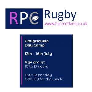 Craigclowan School Rugby Camp | 12 - 16 July 2021