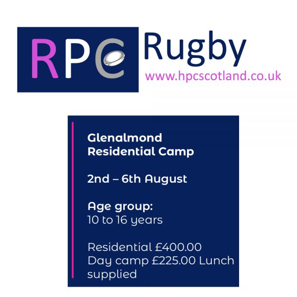 Glenalmond College Rugby Camp | 2 to 6 August 2021