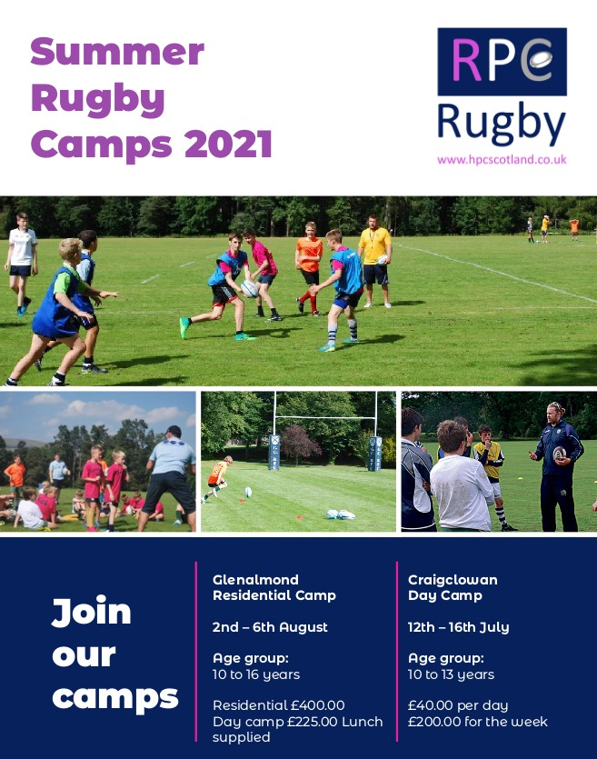 NEW! RPC Rugby Summer Camps
